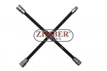 """Кръстачка за гуми 1/2"""" 17 mm, 19 mm, 21 mm, ZR-36AWLW- ZIMBER TOOLS"""