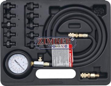 Комплект за измерване налягането на маслото 0 - 10 bar, - 98007 - BGS technic.