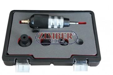 Пневматичен инструмент за шлайфане на клапани к-т с 4 накарайника  - ZT-04A2207D - SMANN TOOLS