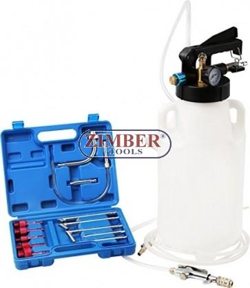 Пневматичeн двупосочен комплект за пълнене и изсмукване на масло в скоростна кутия  ATF / 8L , ZT-04B1091- SMANN TOOLS.