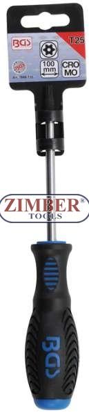 ОТВЕРТКА T25x100 mm. Torx (7849-T25) - BGS technic