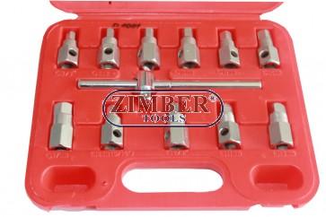 К-т ключове за за картер 12 части (ZG-D1001) ZT-04177 - SMANN TOOLS.