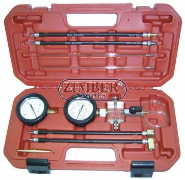 К-т за измерване налягането на обратното гориво при Common rail двигатели с пиезо инжектори - ZIMBER-TOOLS, ZR-36CRI.