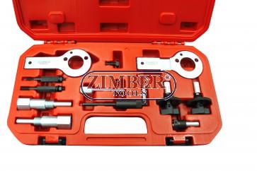 К-т за зацепване на  двигатели Fiat,Alfa Romeo, Lancia, Opel, Suzuki, Saab 1.3, 1.9. 2.4 D, DT, CDTI, ZR-36ETTS85 - ZIMBER TOOLS