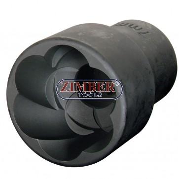"""Вложка екстрактор за отвиване на повредени болтове и гайки 24 мм, 1/2"""" ZR-36BES42401 - ZIMBER TOOLS"""