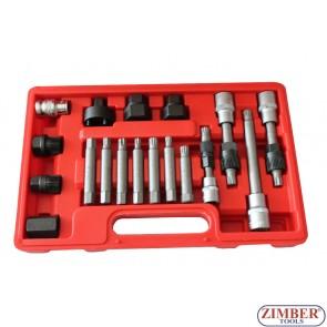 К-т за демонтаж на шайбите на алтернатори 18 части, ZT-04609 - SMANN TOOLS