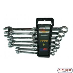 Ключове к-т комбинирани 7ч. от 8-mm до 19-mm - ZT-04645 - SMANN TOOLS