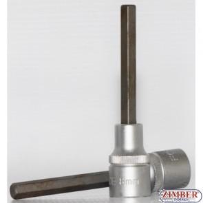 Вложка с накрайник шестограм 8мм 1/2 100mmL - 34410008 - FORCE