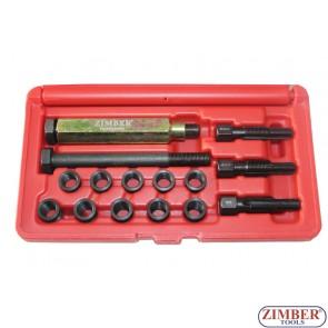 К-т за възстановяване на резби на свещи 10мм х 1 -  ZR-36GPTS101016 - ZIMBER TOOLS