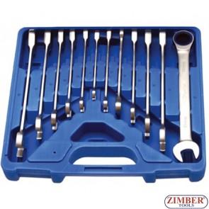 Ключове с тресчотка к-т от 8-19мм 72 зъба - BGS, ZB-30900 ZIMBER - TOOLS.