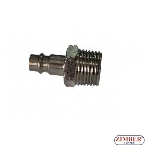 """Накрайник за въздух 1/2"""" (бърза връзка) Европейски тип - ZR-12APOM1201 - ZIMBER TOOLS"""