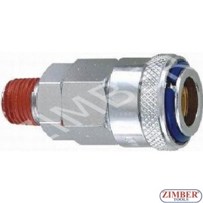 """Накрайник за въздух 1/2"""" стомана - ZIMBER"""