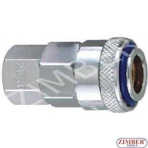 """Накрайник за въздух 1/4"""" ZDC-2 стомана , ZL-20SFT - ZIMBER TOOLS"""