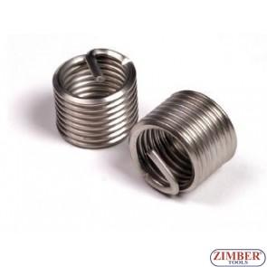 Втулки за възстановяване на резби M10 x 1,25 x 13,5mm, 1бр. - ZIMBER-TOOLS