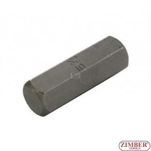 Накрайник шестостенен 10 мм, дължина 30 мм