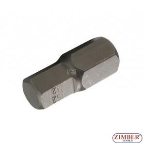 Накрайник шестостенен 12 мм, дължина 30 мм