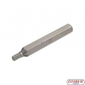 Накрайник шестостенен 5 мм, дължина 75 мм - BGS