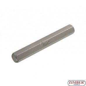 Накрайник шестостенен 10 мм, дължина 75 мм
