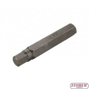 Накрайник шестостенен 12 мм, дължина 75 мм