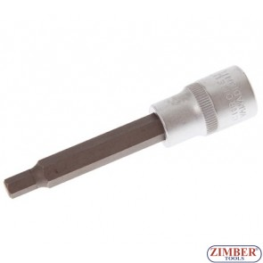 """Накрайник шестостенен на вложка 7 мм, дължина 100 мм, 1/2"""""""