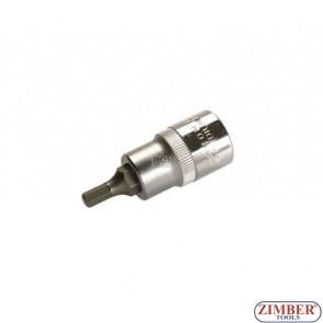 """Накрайник шестостенен на вложка 5 мм, дължина 53 мм, 1/2"""" - BGS (ZB-4251)"""