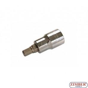 """Накрайник шестостенен на вложка 8 мм, дължина 53 мм, 1/2"""" (ZB-4254)"""