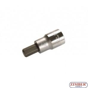 """Накрайник шестостенен на вложка 10 мм, дължина 53 мм, 1/2"""" (ZB-4255)"""