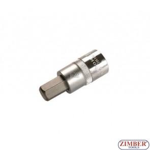 """Накрайник шестостенен на вложка 12 мм, дължина 53 мм, 1/2"""" (ZB-4256)"""