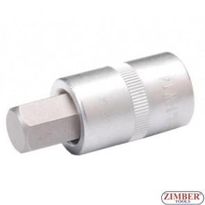 """Накрайник шестостенен на вложка 14 мм, дължина 53 мм, 1/2"""" (ZB-4257)"""
