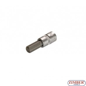 """Накрайник шестостенен на вложка 8 мм, 1/4"""" (ZB-2502)"""
