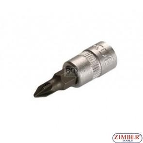 """Накрайник на вложка PH0, 1/4"""" (ZB-2504)"""