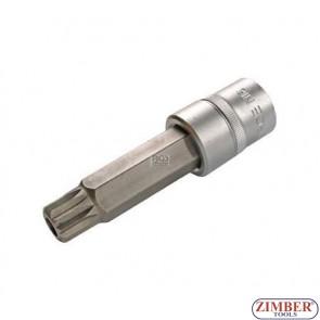 """Накрайник с дупка M16 на вложка, дължина 100 мм, 1/2"""" (ZB-4357)"""