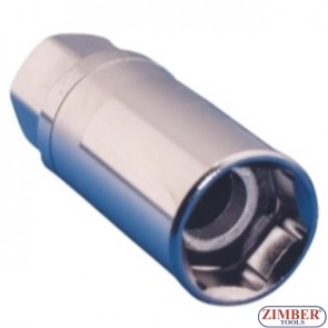 "Вложка за свещи с магнит 16-mm  3/8"", ZR-04SP3816V01 - ZIMBER TOOLS."