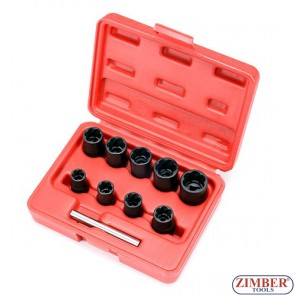 """Вложки екстрактори 3/8"""" от 10mm ~ 19mm - 10 части. ZT-01Z5193- SMANN TOOLS"""