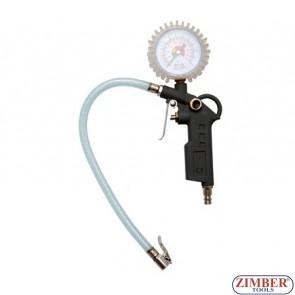 Манометър - пистолет за помпане на гуми до 12 bar - BGS (ZB-3201)
