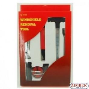 К-т  инструменти за сваляне на автостъкла, ZR-36WRK01- ZIMBER-TOOLS