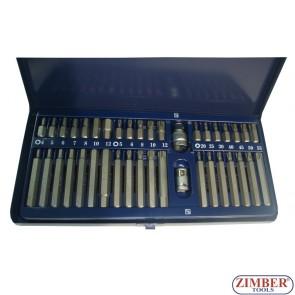 Битове накрайници к-т 40 части, ZR-14BS40 - ZIMBER TOOLS