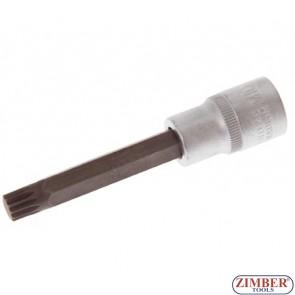 """Накрайник M10 на вложка, дължина 100 мм, 1/2"""" - BGS, ZB-4362 ZIMBER - TOOLS."""