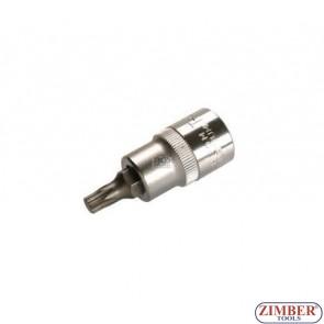"""Накрайник на вложка 1/2"""", Т30х53мм - BGS, ZB-4371 ZIMBER - TOOLS."""