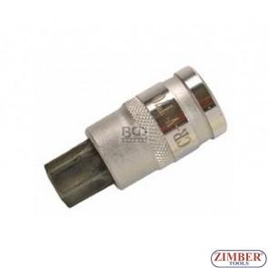 """Накрайник с дупка на вложка 1/2"""", Т70х53мм - BGS, ZB-4377 ZIMBER - TOOLS."""