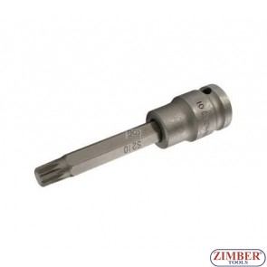 """Накрайник на вложка ударна 1/2"""", М10х10х100мм - BGS, ZB-4462 ZIMBER - TOOLS."""