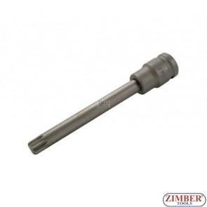 """Накрайник на вложка ударна 1/2"""", М12х10х140мм - BGS,ZB-4463 ZIMBER - TOOLS."""