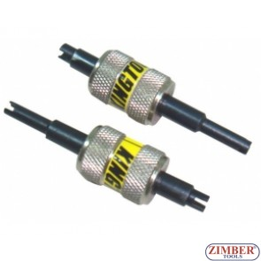 К-т 2 части, Инструмент за монтаж демонтаж на сервизни иглички - ZIMBER - TOOLS