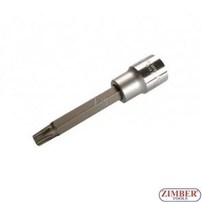 """Накрайник на вложка 1/2"""", Т60х100мм - BGS, ZB-4476 ZIMBER - TOOLS."""