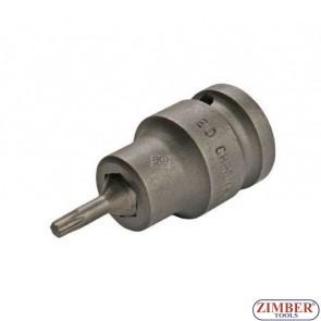 """Накрайник на вложка T20, 1/2"""" - BGS,ZB-5369 ZIMBER - TOOLS."""