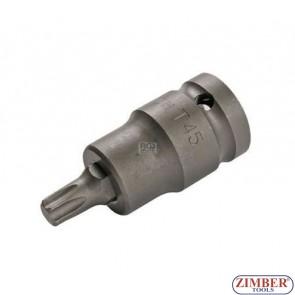 """Накрайник на вложка T45, 1/2"""" - BGS, ZB-5373 ZIMBER - TOOLS."""