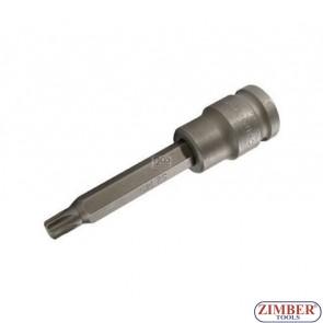 """Накрайник на вложка ударна T-STAR, 100 mm удължен 1/2"""" T45 - BGS, ZB-5473 ZIMBER - TOOLS."""