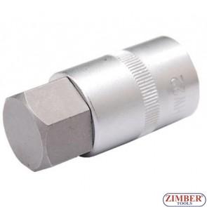 "Шестограм на вложка 1/2"", 24x55 mm -  Hexagon 24 mm (5184-H24) - BGS technic"