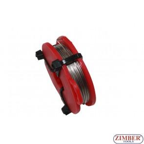Тел за рязане на уплътнение за стъкло  22-m, ZR-36TW72  - ZIMBER TOOLS
