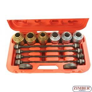 Универсален комплект за монтаж и демонтаж на селенови втулки, лагери, семеринги и др. 26 части ,  ZR-36URISK - ZIMBER